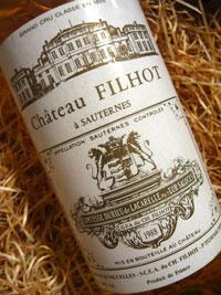 Ch Filhot Sauternes 2009