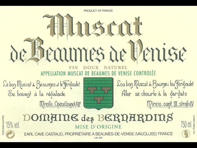 Domaine de Bernadins Beaumes de Venice